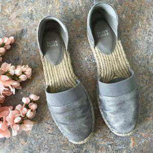 Eileen Fisher Lady Leather Espadrilles Shoes Flats